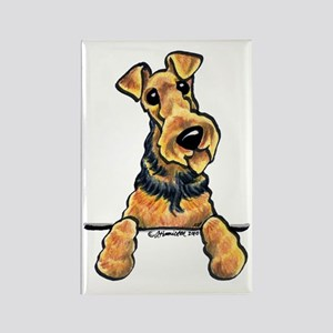 Welsh Terrier Paws Up Rectangle Magnet