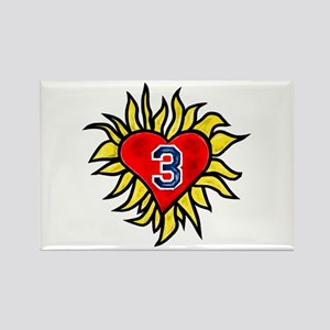 Flaming Heart 3 Rectangle Magnet