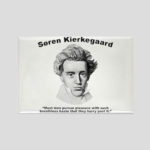 Kierkegaard Pleasure Rectangle Magnet