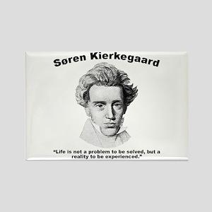 Kierkegaard Life Rectangle Magnet