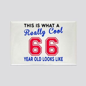 Really Cool 66 Birthday Designs Rectangle Magnet