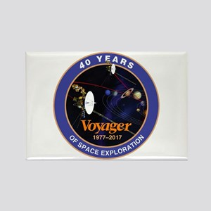 Voyager At 40! Rectangle Magnet