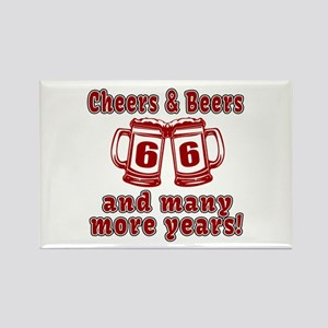 Cheers And Beers 66 And Many More Rectangle Magnet