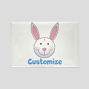 Custom Easter Bunny Rectangle Magnet