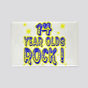 14 Year Olds Rock ! Rectangle Magnet
