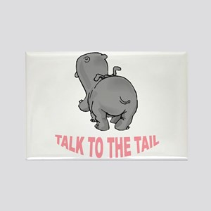 Hippo Talk To The Tail Rectangle Magnet