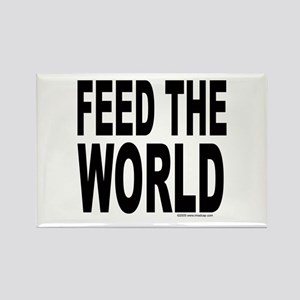 Feed the World Rectangle Magnet