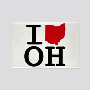 I Heart Ohio Rectangle Magnet