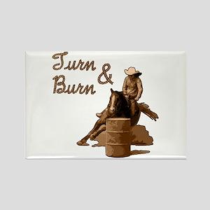 Turn & Burn. Western Cowgirl. Rectangle Magnet