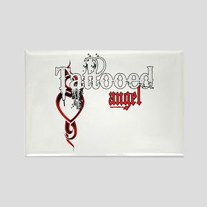 Tattooed Angel Rectangle Magnet