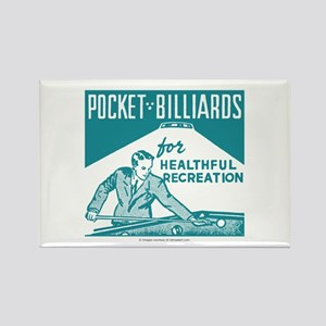 Pocket Billiards Rectangle Magnet