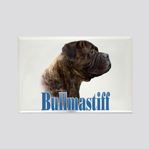 Bullmastiff(brindle)Name Rectangle Magnet