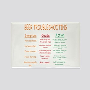 Beer Troubleshooting Rectangle Magnet