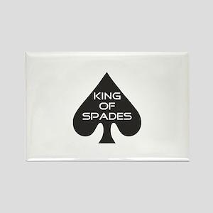 Spades King Rectangle Magnet