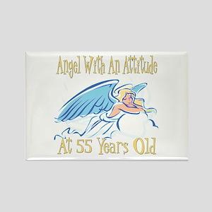 Angel Attitude 55th Rectangle Magnet