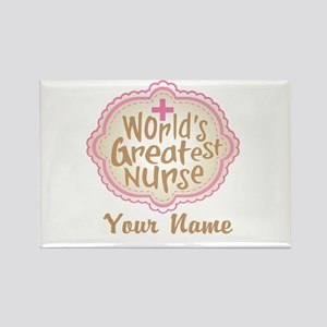 Personalized World's Greatest Nurse Rectangle Magn