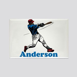 Personalized Baseball Rectangle Magnet