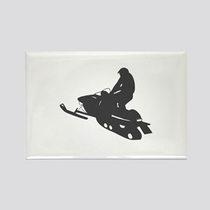 Snowmobile - Snowmobiling Rectangle Magnet