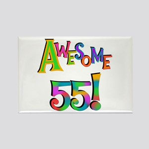 Awesome 55 Birthday Rectangle Magnet