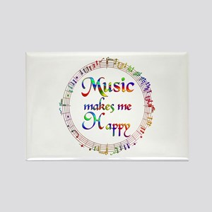 Music makes me Happy Rectangle Magnet