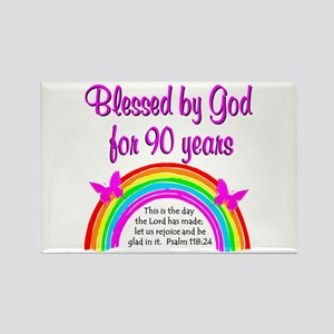 PRECIOUS 90TH Rectangle Magnet