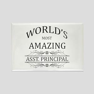 World's Most Amazing Asst. Princi Rectangle Magnet