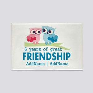 6th Anniversary Couple Gift Perso Rectangle Magnet