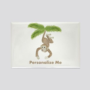 Personalized Monkey Rectangle Magnet