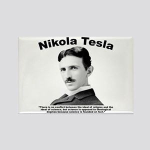 Tesla: Religion Rectangle Magnet