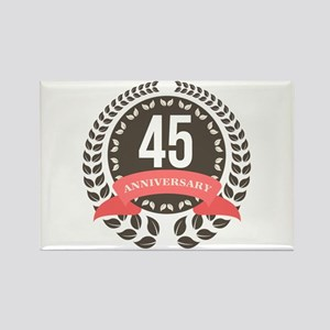 45Years Anniversary Laurel Badge Rectangle Magnet
