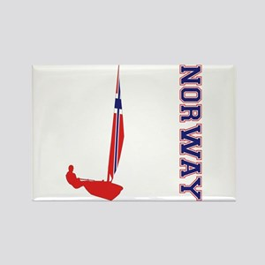Sailing Norway Rectangle Magnet