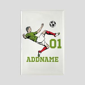 Customizable Soccer Rectangle Magnet