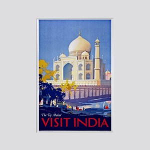 India Travel Poster 13 Rectangle Magnet
