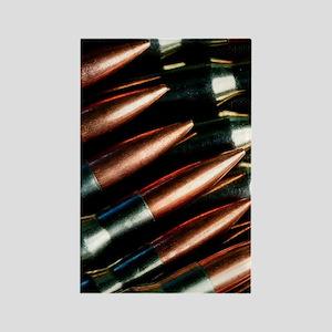 Rifle Bullets Rectangle Magnet