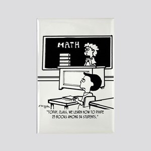 Divide 25 Books Among 34 Students Rectangle Magnet