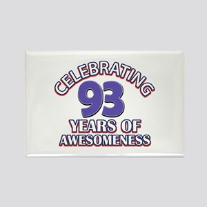Celebrating 93 Years Rectangle Magnet