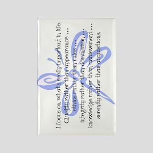 WhatsImportantInLife-102011-flip Rectangle Magnet