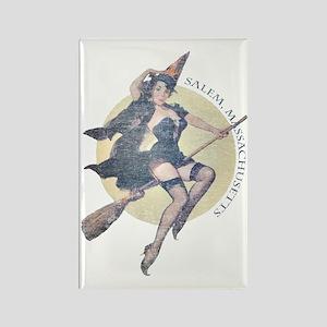 Vintage Salem Witch Rectangle Magnet