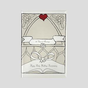 wedding_40_anniversary_print Rectangle Magnet