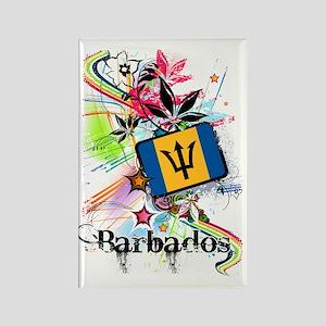 flowerBarbados1 Rectangle Magnet