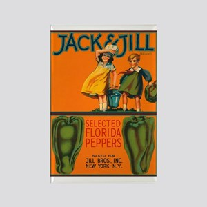 Vintage Jack and Jill Peppers Rectangle Magnet