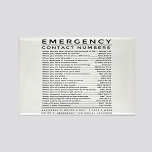 bible emergency number Magnets