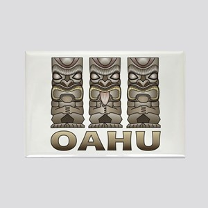 Oahu Tiki Rectangle Magnet