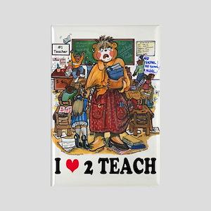 Stressed Teacher - Female Rectangle Magnet