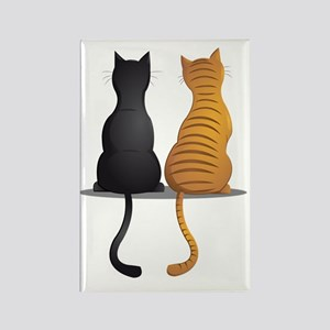 cat buddies Rectangle Magnet