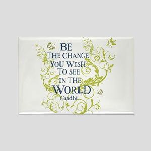 Gandhi Vine - Be the change - Blue & Green Rectang