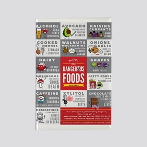 Toxic Dog Foods Rectangle Magnet