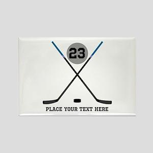 Ice Hockey Personalized Rectangle Magnet