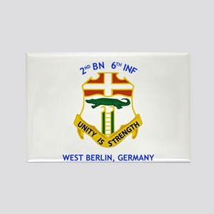2nd BN 6th INF Gear Rectangle Magnet
