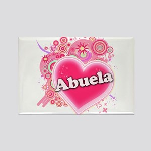 Abuela Heart Art Rectangle Magnet